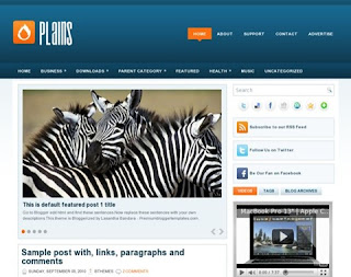 Plains Blogger Template
