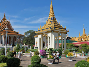 Garden of the Silver Pagoda in Phnom Penh (Cambodia)
