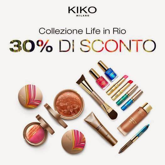 """KIKO - Collezione """"Life in Rio"""" scontata del 30%"""