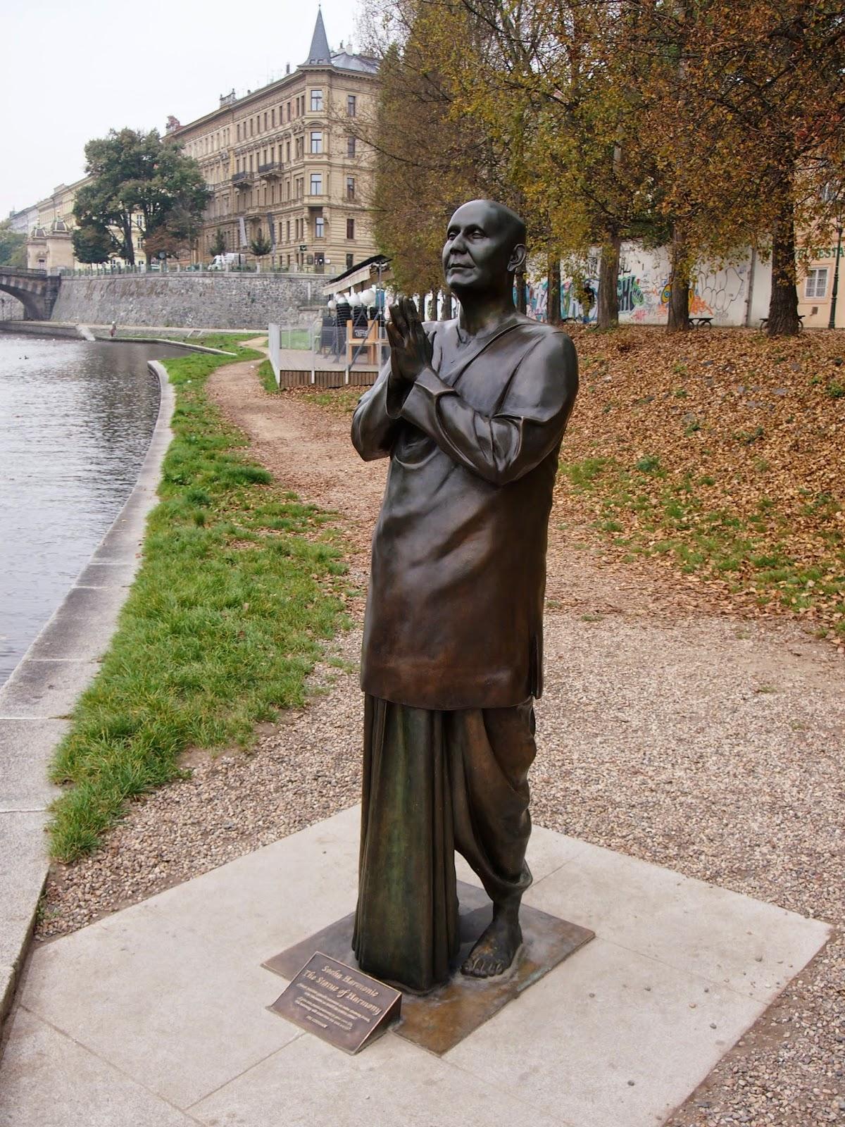 A statue of a buddhist in Prague