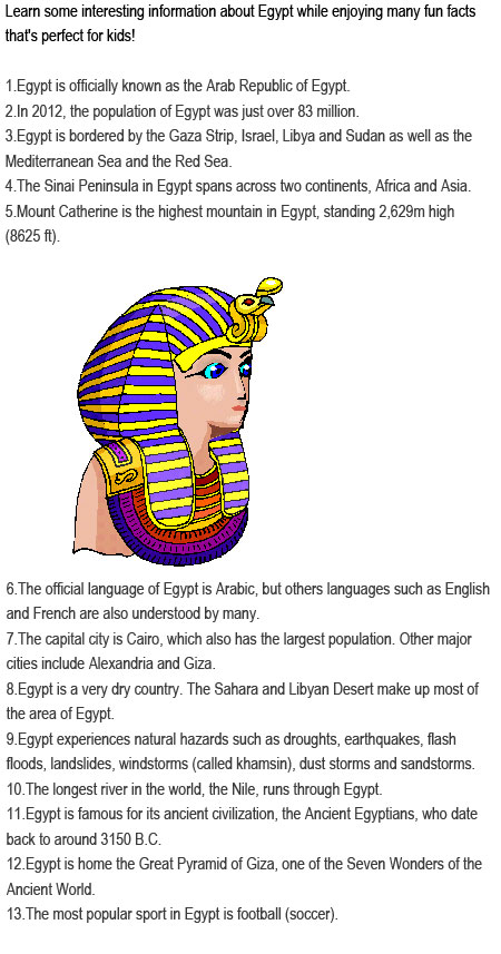 Facts about Egypt for kids