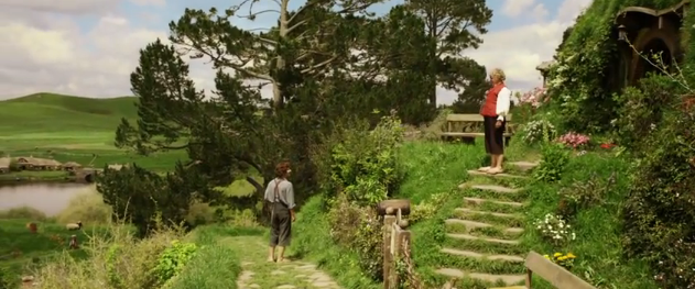 The Hobbit An Unexpected Journey 2012 official movie trailer featuring Bilbo Baggins and Frodo Baggins in Bree