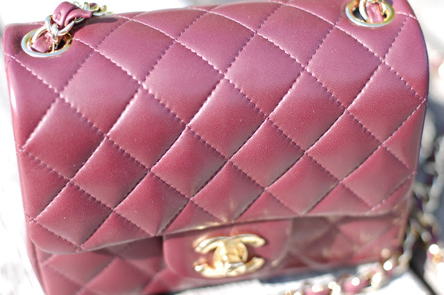 Chanel mini A35200 Bordeaux