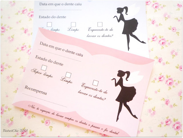 Tooth fairy free card for boys and girls from BistrotChic