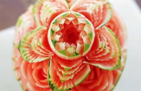 Karpuzdan Çiçek Yapılışı (Meyve ve Sebze Şekillendirme Sanatı)