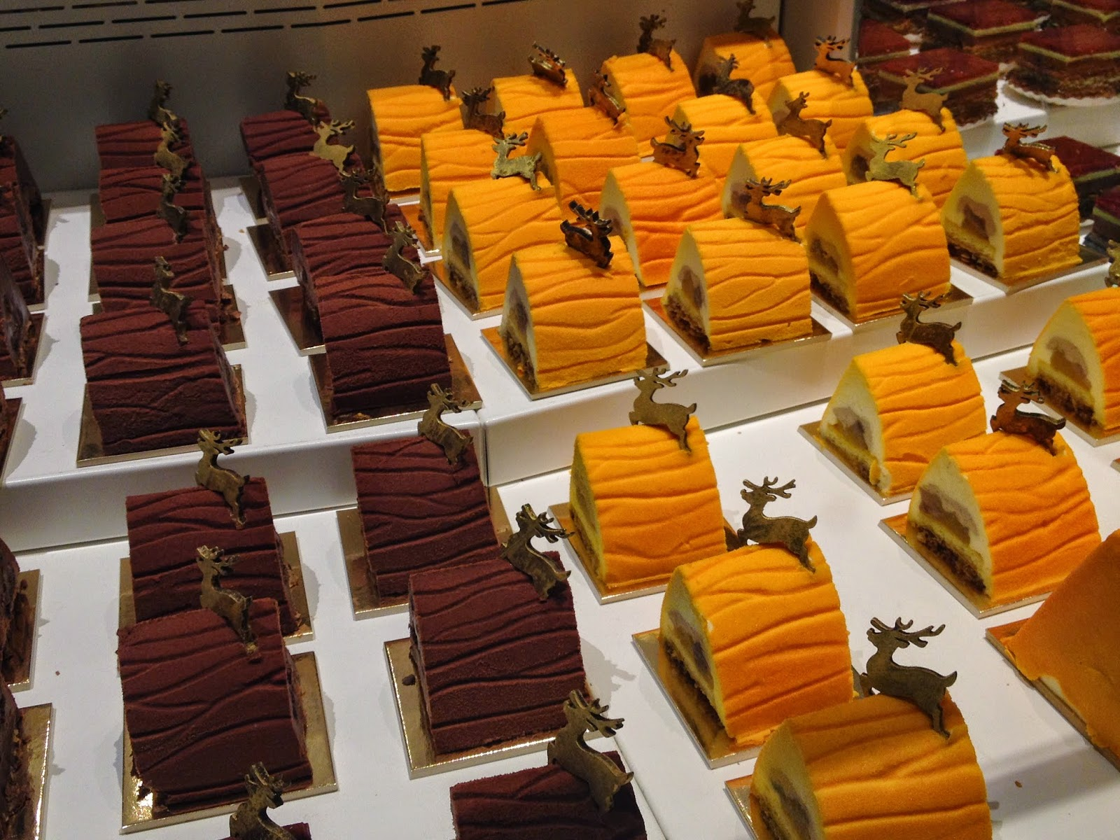 Bûches de Noël at La Grande Epicerie de Paris