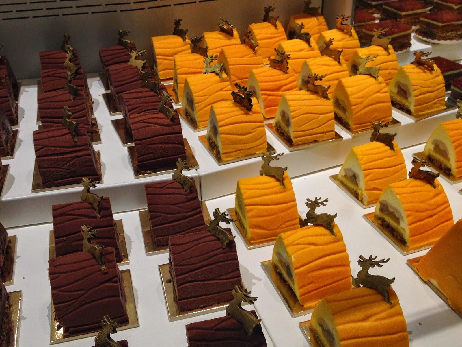 Bûches de Noël at La Grande Epicerie de Paris