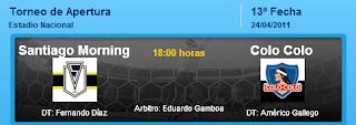 Ver Santiago Morning vs. Colo Colo EN VIVO