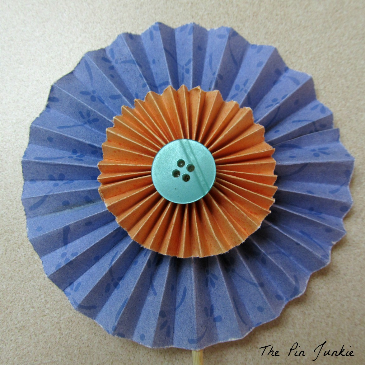 The pin junkie how to make paper bluebonnets - Easy To Make Folded Paper Flowers
