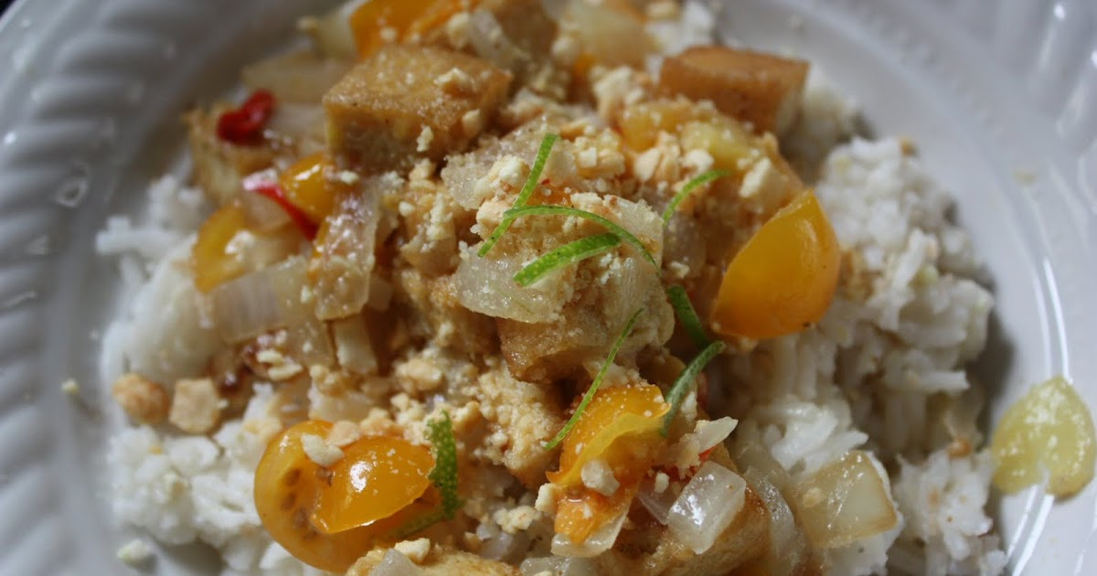 Coconut-Curry Tofu and Jasmine Rice