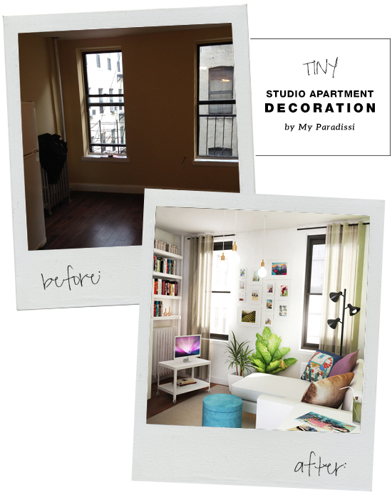 Tiny studio apartment decoration | My Paradissi ©Eleni Psyllaki