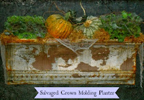 Salvaged Tin Crown Molding Planter