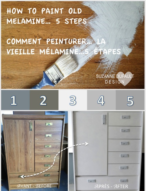 rajeunissez la vieille m lamine rejuvinate old melamine. Black Bedroom Furniture Sets. Home Design Ideas
