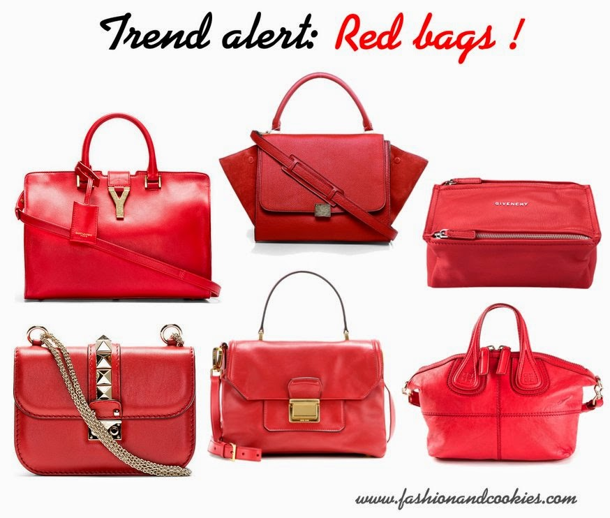 trend alert - red bags, Fashion and Cookies, fashion blogger
