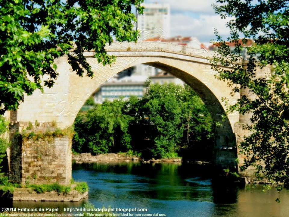 Pilares sobre el Miño, Puente Romano de Ourense - EdP