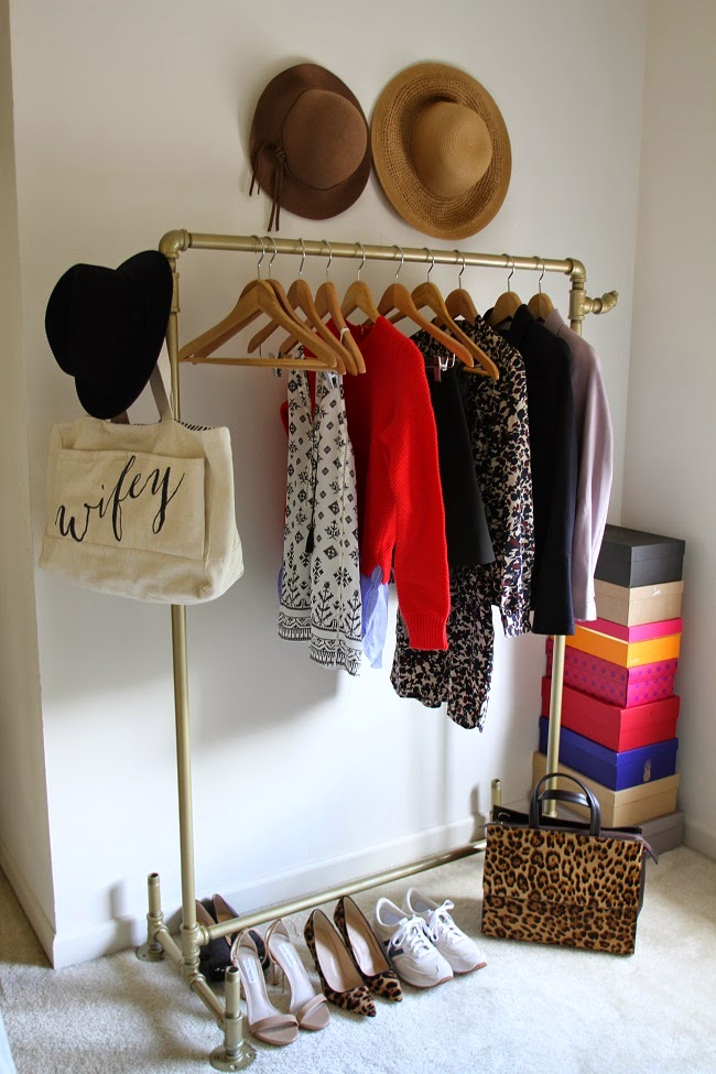 handmade coat rack, boden leopard bag