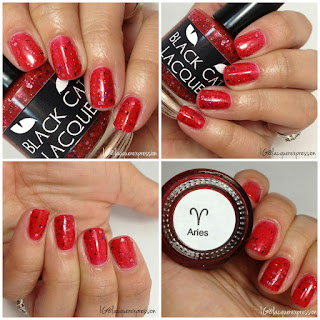 swatch and review of aries nail polish by black cat lacquer