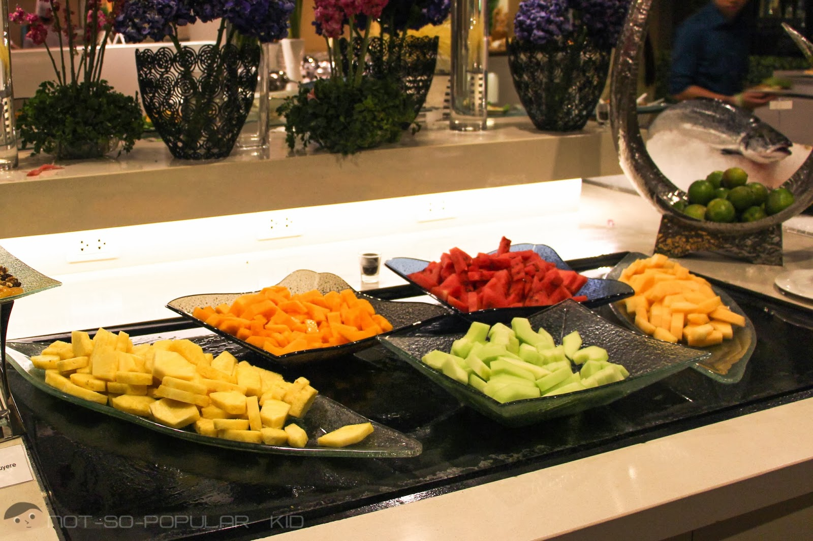 Fruits for appetizers in Midas Cafe Buffet