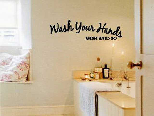 Wall Decorations For Bathroom Walls : Bathroom wall decor