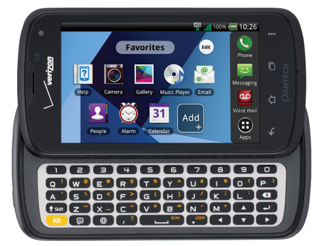 Pantech Marauder - USA - Verizon Wireless - Side slider - Physical QWERTY keyboard