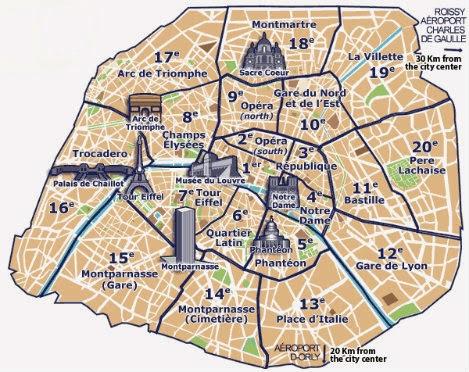paris arisdisments map