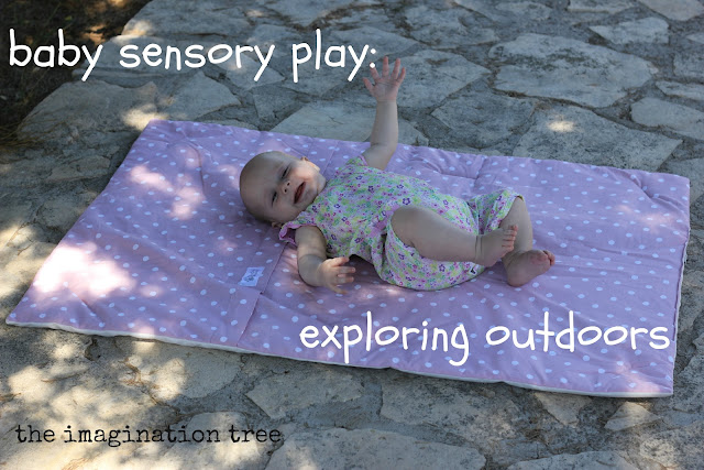 baby sensory play activity outside nature