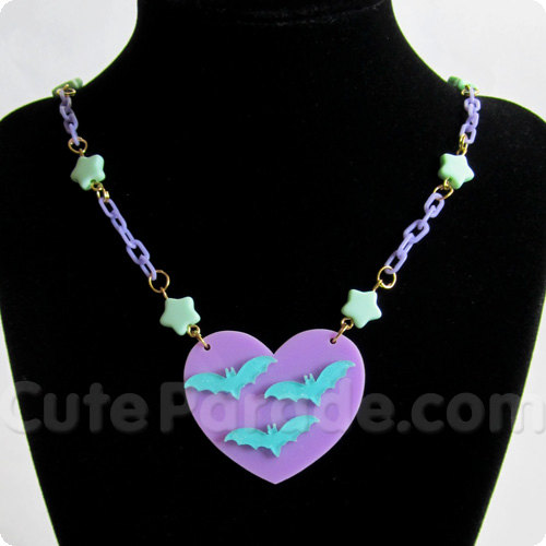 Flying bat necklace from Cute Parade