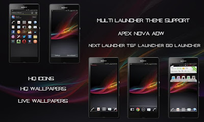Theme Android : Free Download Theme Xperia Z Pro All in one pack v1.00 Apk