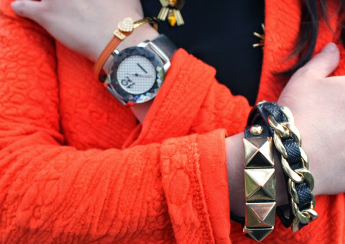 orange blazer, accesories, fashion blog, fashion blogger, primark, opening, paris, o'parinor