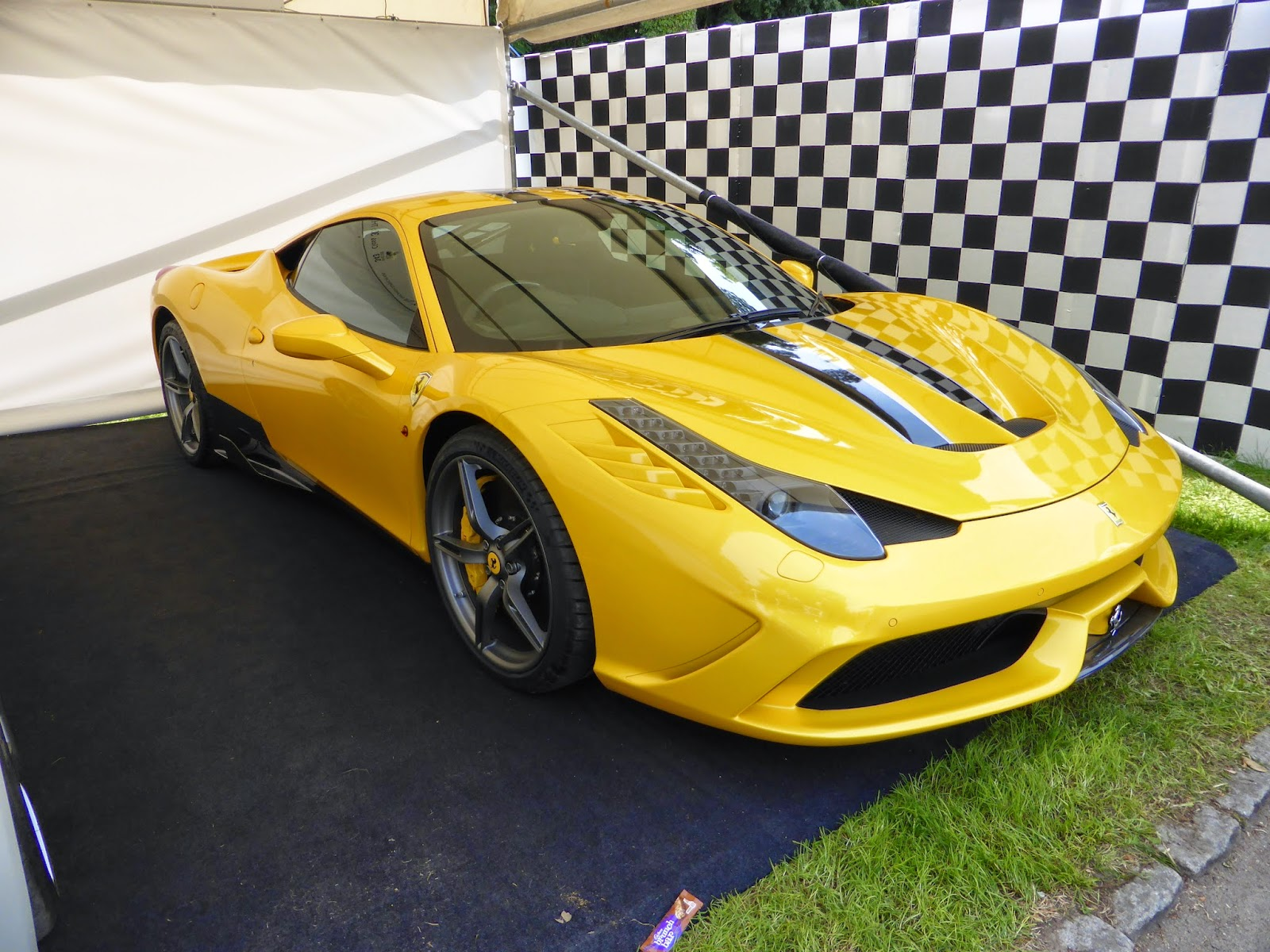 Ferrari 458 Italia in the supercar paddock