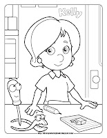 handy manny kelly coloring pages