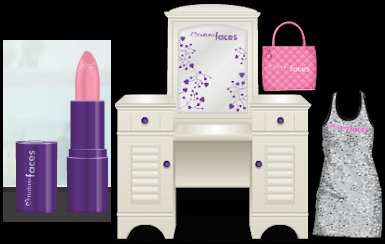 Stardoll Free Natura Faces Rosa Ritmo Lipstick, Dress, Bag and Make-up Table Free Makeup Cheat