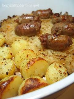 sausage-potato-sauerkraut