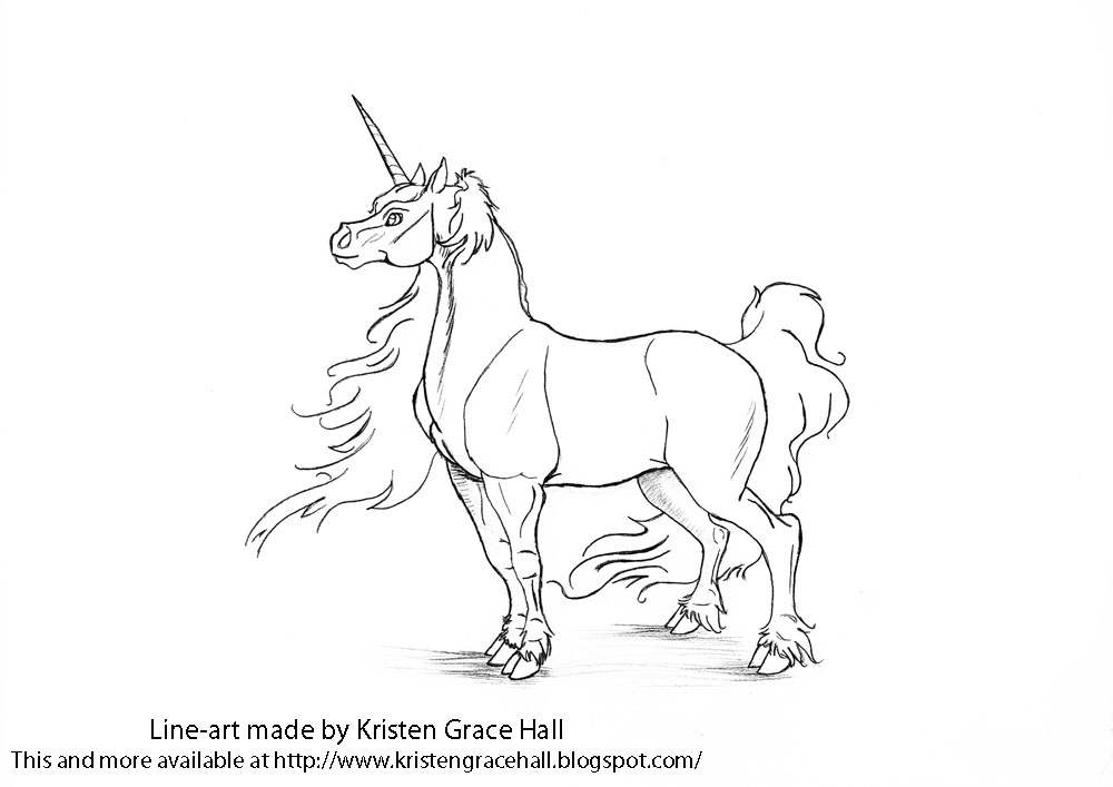 Unicorns Coloring Pages