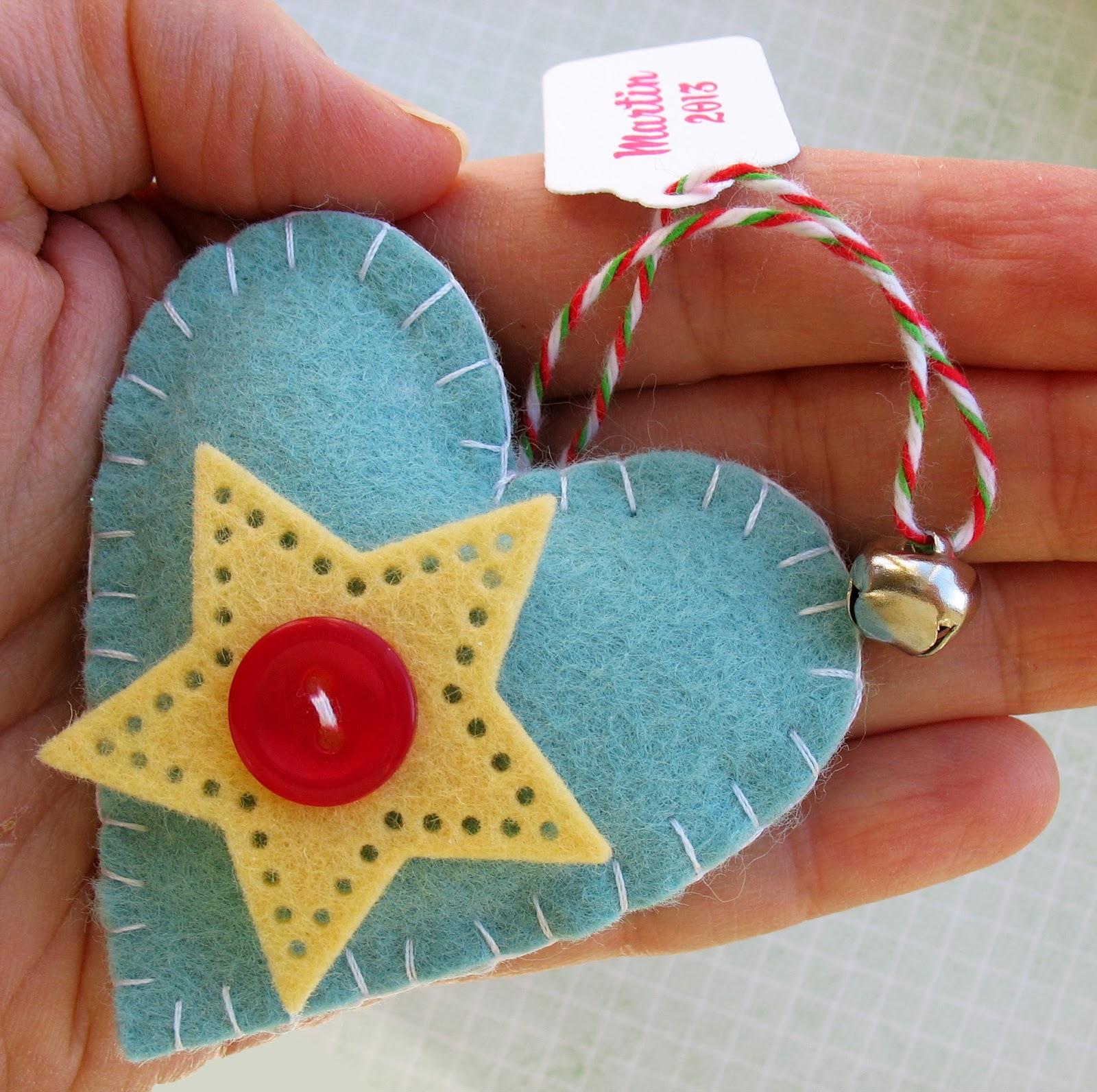 Bucilla vtg handmade felt sequin beaded christmas ornaments santa