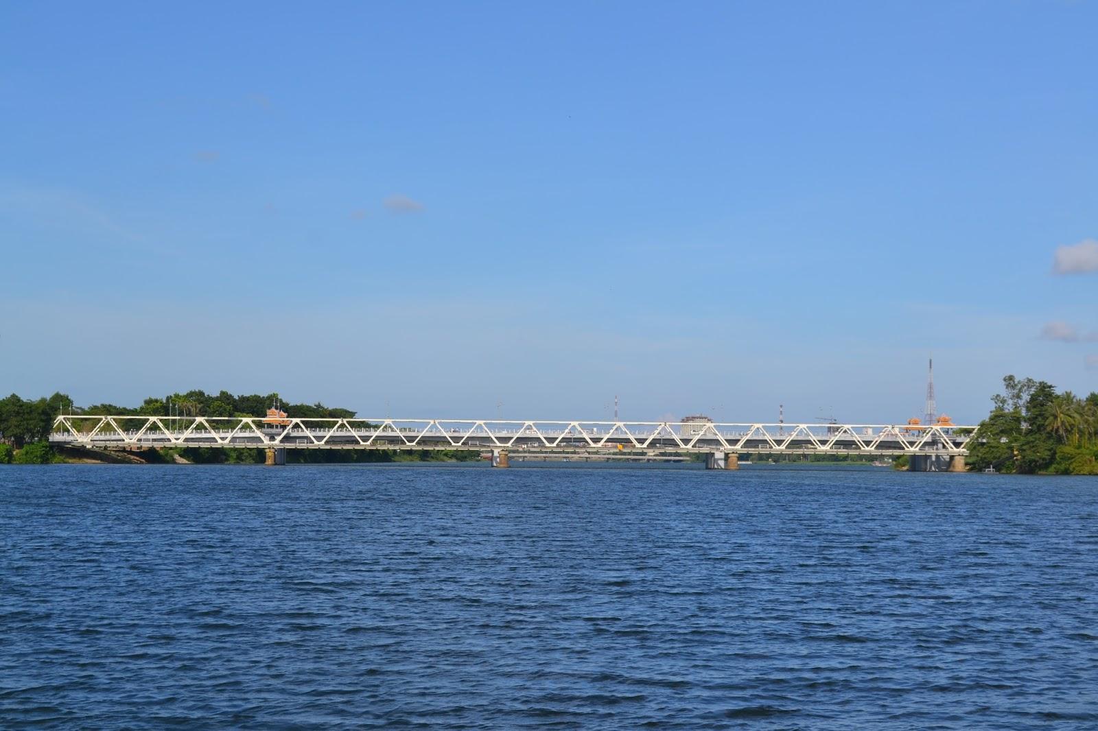 Bridge on the perfume river, hue