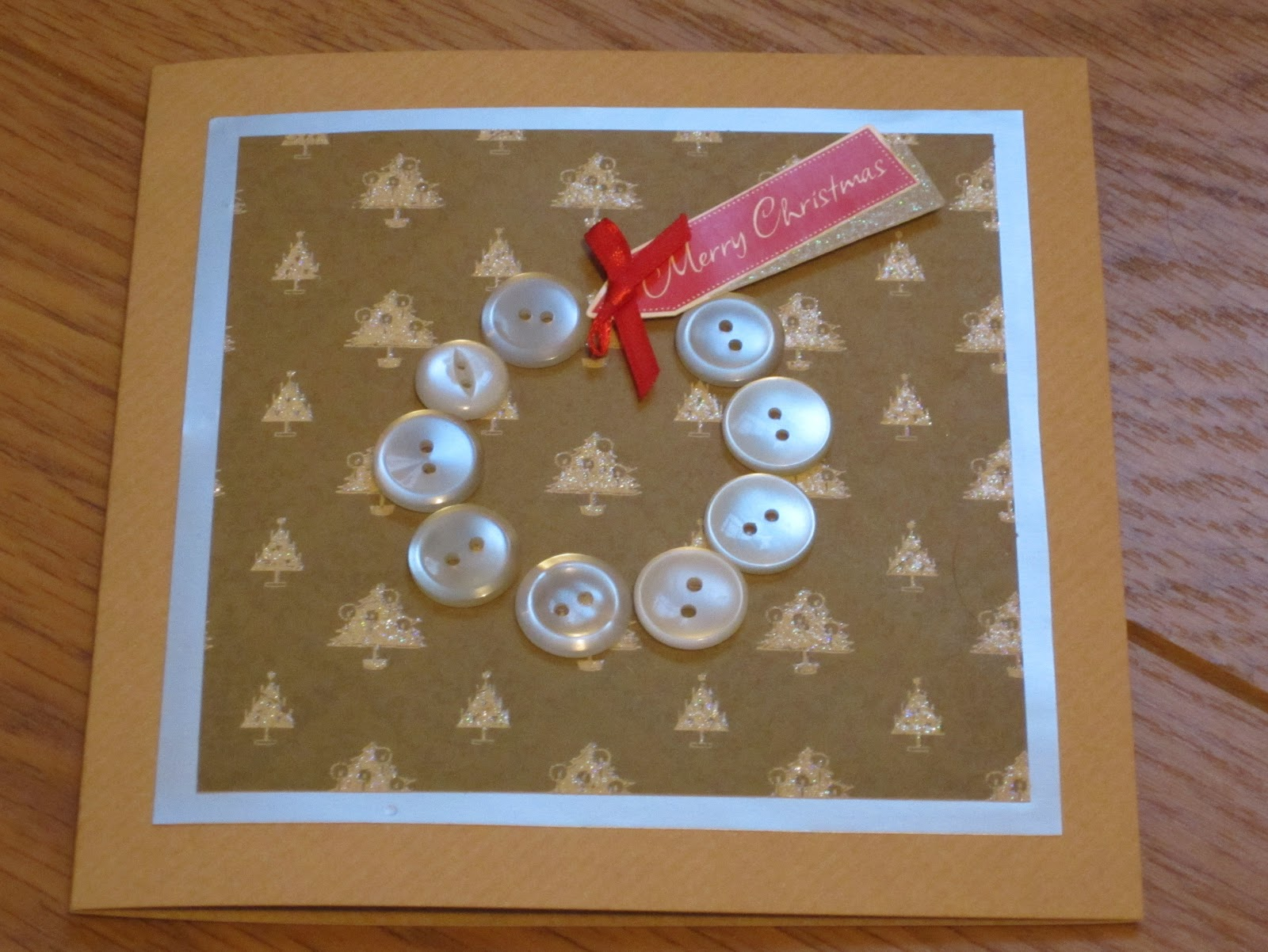 Button Christmas Cards Crafty Weekend Craft Projects For The Weekend