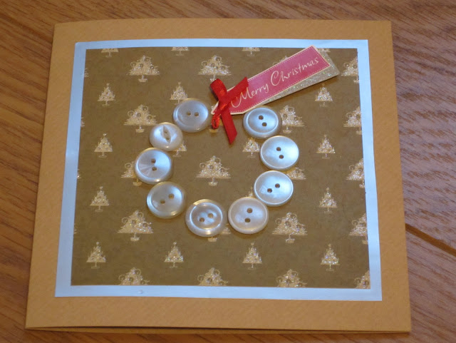 button card, homemade card, christmas, paper crafts