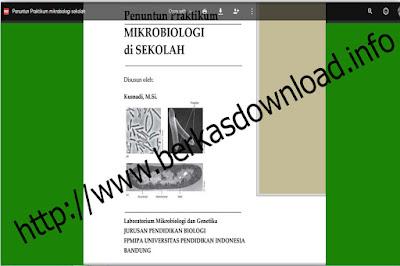 Berkas File Guru Penuntun Praktikum  IPA-Biologi  di Sekolah