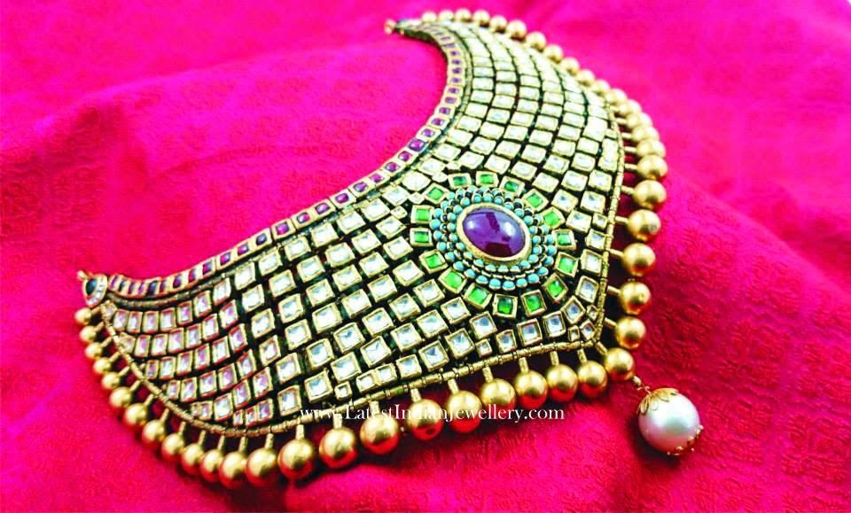 Jadau Kundan Gold Choker