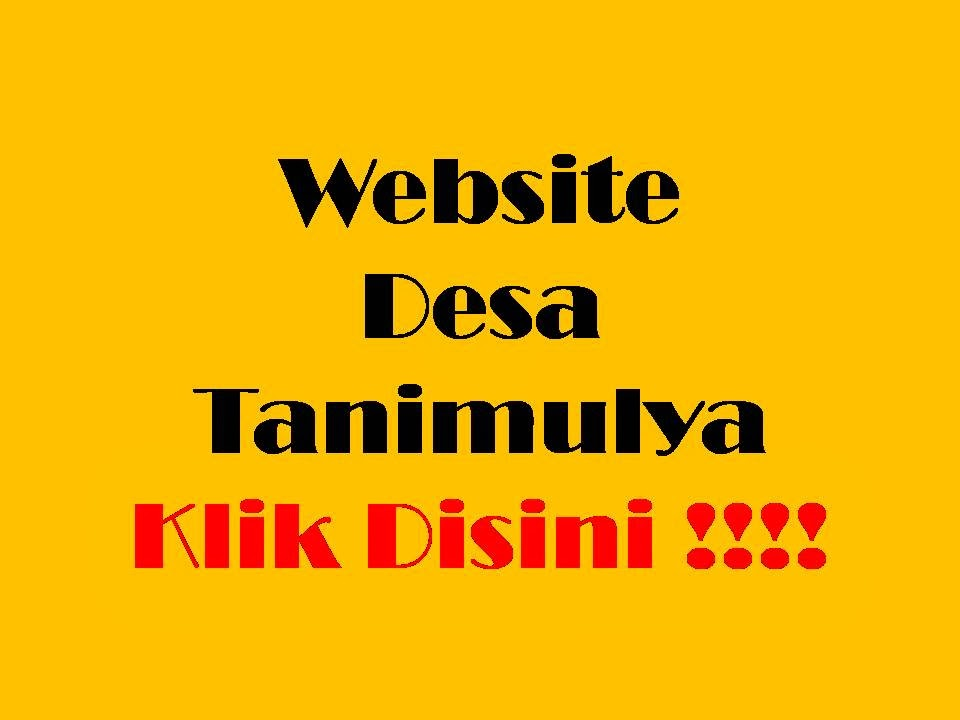 Link ke Website Desa Tanimulya