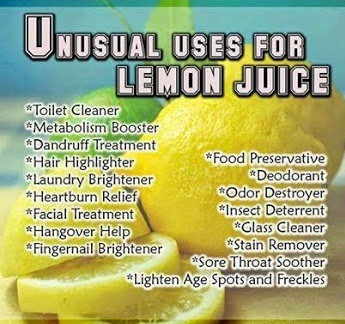 Uses of lemon juice in our regular life with unusual manner