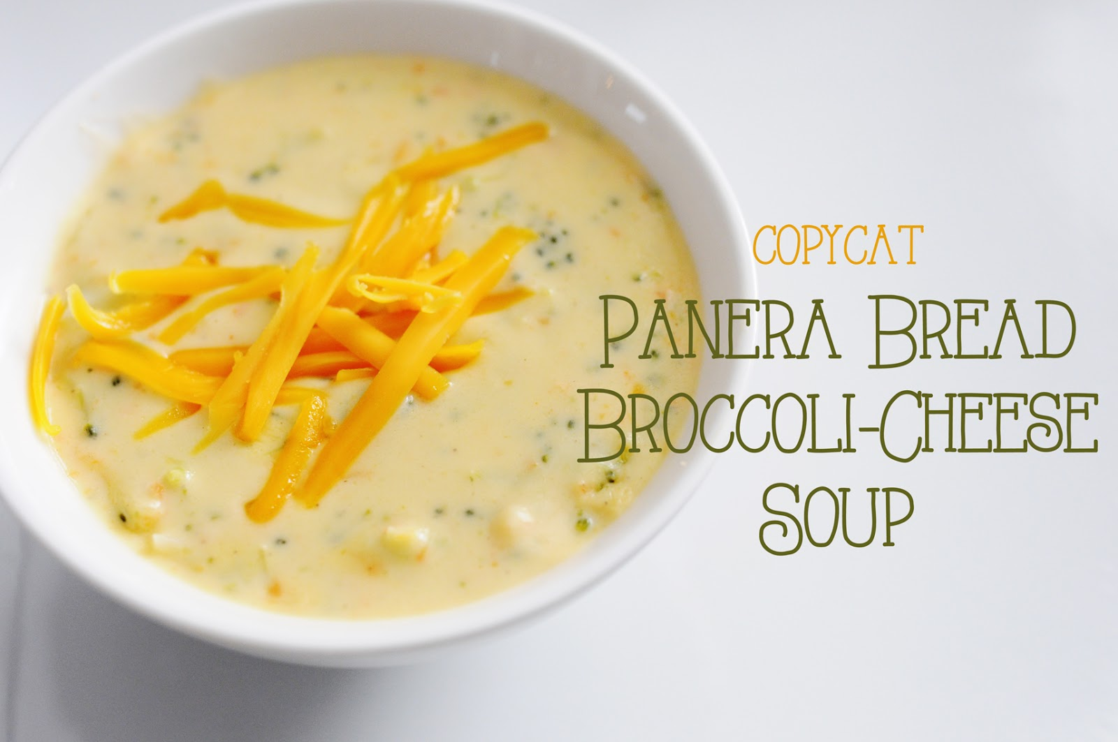 Panera broccoli cheese soup recipes