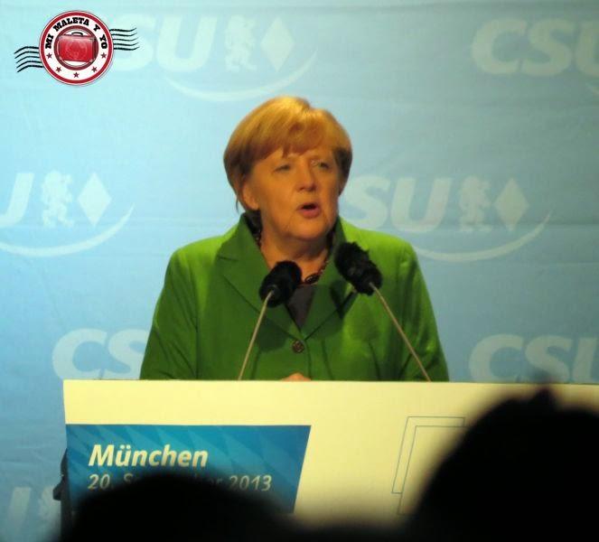 Angela Merkel en Munich