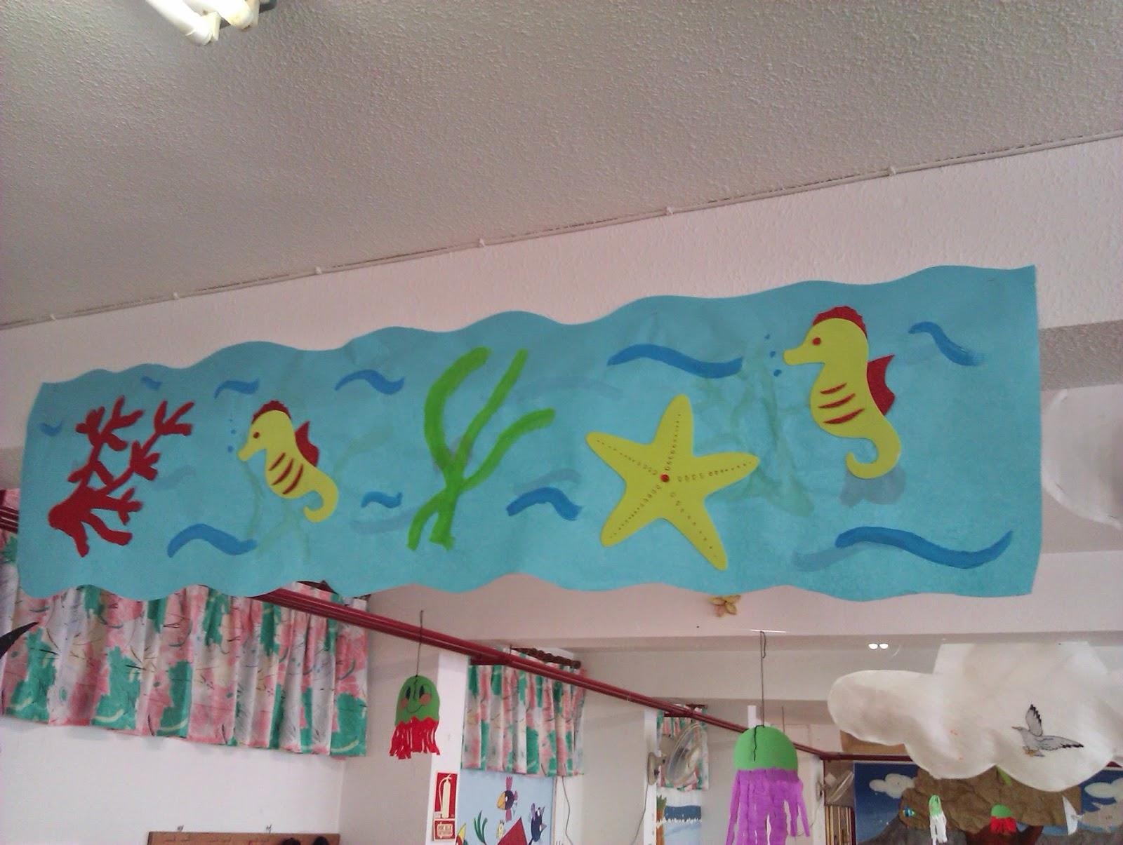 Manualidades escolares decoraci n veraniega for Decoracion verano jardin infantil