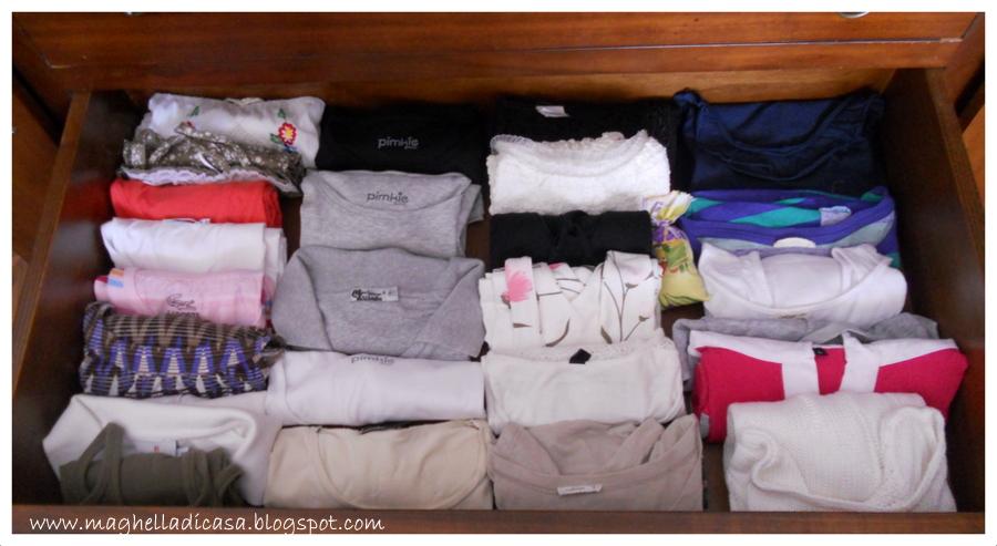 Come Ordinare I Cassetti Del Bagno : Ordine alle magliette maghella di casa