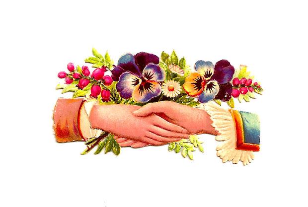 antique free flower clip