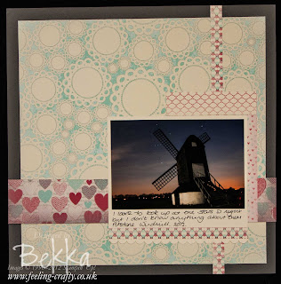 More Amore Speciality Papers Scrapbook Page by Stampin' Up! Demonstrator Bekka Prideaux - she shows you a Scrapbook Page Every Saturday on her blog