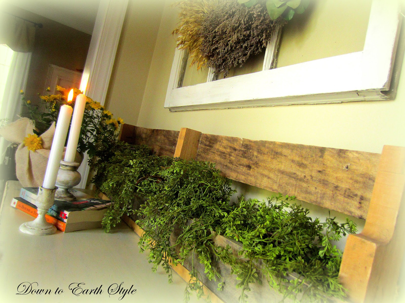 Foyer Planter Box : Down to earth style pallet planter