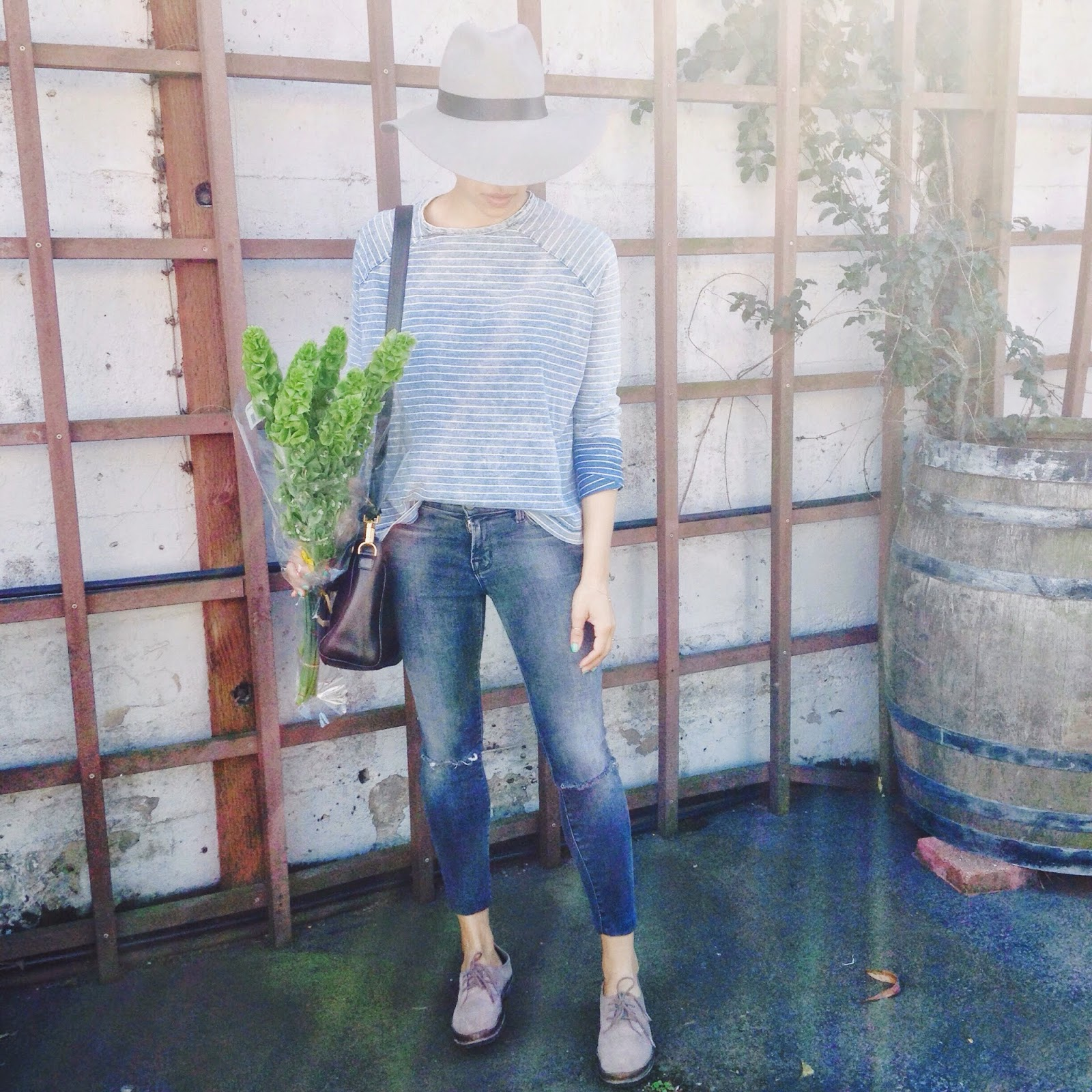 simple, classic, ootd, Bells of Ireland, spring style, rag & bone, j brand denim, topshop fedora